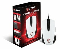 Мышь MSI Clutch GM40 GAMING Mouse White USB