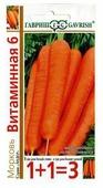 Семена 1+1=3 Морковь Витаминная 6 4 г Гавриш 4 г