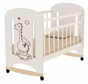 Кроватка Волжская деревообрабатывающая компания Dino (колесо) (качалка)