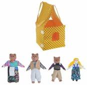 Наивный мир Театр пальчиковый шагающий Три медведя с домиком (004.08)