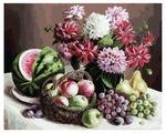 """Белоснежка Картина по номерам """"Георгины и фрукты"""" 40х50 см (172-AB)"""
