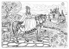 ЯиГрушка Коврик-раскраска Принцесса (большой)