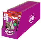 Корм для кошек Whiskas с ягненком, с говядиной (кусочки в соусе)