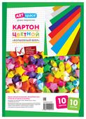 Цветной картон мелованный, на заклепке Волшебный веер, в ассортименте ArtSpace, A4, 10 л., 10 цв.