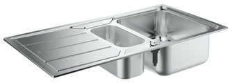 Врезная кухонная мойка Grohe K500 31572SD0 97х50см нержавеющая сталь