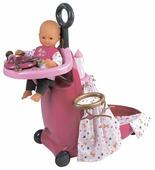 Smoby Набор для кормления и купания пупса в чемодане Baby Nurse (220316)