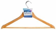 Вешалка Vetta Набор деревянная с перекладиной и выемками 455-063