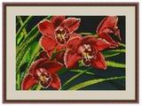 Galla Collection Набор для вышивания бисером Орхидеи 30 x 21 см (Л313)