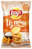 Lay's Чипсы Lay s Из печи картофельные Лисички в сметане рифленые