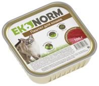Корм для кошек Ekonorm Паштет с говядиной и печенью