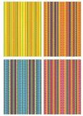 Цветной картон с тиснением Полоски Апплика, A4, 4 л., 4 цв.