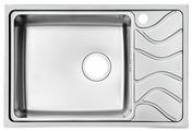 Врезная кухонная мойка IDDIS Reeva REE71SLi77 71.5х48см нержавеющая сталь