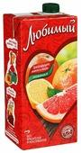 Напиток сокосодержащий Любимый Грейпфрут-Лимон-Лайм с крышкой