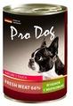 Корм для собак Pro Dog Для собак ягненок с морковью консервы