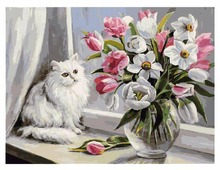 "Белоснежка Картина по номерам ""Весна на окошке"" 30х40 см (128-AS)"