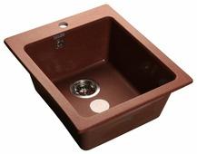 Врезная кухонная мойка GranFest Practic GF-P505 42.7х50.5см искусственный мрамор