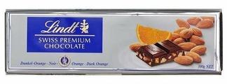 Шоколад Lindt Swiss premium темный с апельсином и миндалем
