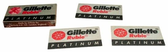Лезвия для T-образного станка Gillette Rubie Platinum