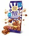 Шоколад Alpen Gold Max Fun молочный кола, попкорн и взрывная карамель