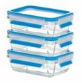 EMSA Набор из 3 контейнеров CLIP & CLOSE GLASS 514170