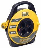 IEK Удлинитель на катушке 4х10м с заземл. 10А IP20 УК10 Industrial с термозащ. 3х1