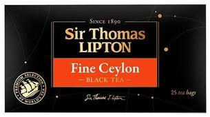 Чай черный Sir Thomas Lipton Fine Ceylon в пакетиках