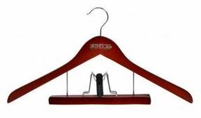 Вешалка Attribute Для костюмов с деревянным зажимом для брюк