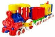 Каталка-игрушка Форма Паровозик Ромашка (С-119-Ф)