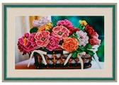 Galla Collection Набор для вышивания бисером Цветочная корзина 35 х 21 см (Л330)