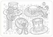 ЯиГрушка Коврик-раскраска Аксессуары для девочек. Шляпы (маленький)