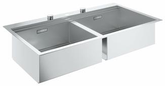 Врезная кухонная мойка Grohe K800 31585SD0 102.4х56см нержавеющая сталь