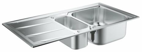 Врезная кухонная мойка Grohe K400 31567SD0 97х50см нержавеющая сталь