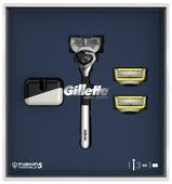 Подарочный набор Gillette: подставка, бритвенный станок Fusion5 ProShield