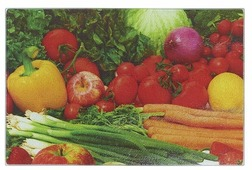 Разделочная доска Best Home Kitchen 5341035 Дачный сезон 40x30x0,5 см рифленая