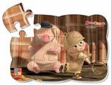 Пазл Vladi Toys Маша и Медведь - Маша Шерлок Хомс (VT3205-49), 12 дет.