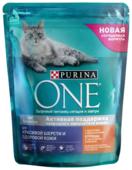 Корм для кошек Purina ONE для здоровья кожи и шерсти, для вывода шерсти, с курицей и с цельными злаками 750 г