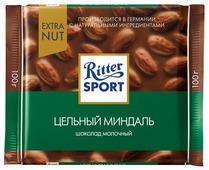 Шоколад Ritter Sport Extra Nut молочный цельный миндаль