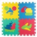 Коврик-пазл Играем вместе Союзмультфильм Транспорт 28*28 10 шт. (B25274T-CRT)