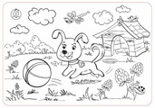 ЯиГрушка Коврик-раскраска Собачка (маленький)