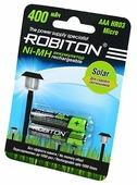 Аккумулятор Ni-Mh 400 мА·ч ROBITON Solar AAA HR03 Micro 400