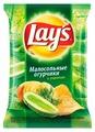 Чипсы Lay's картофельные Малосольные огурчики с укропом
