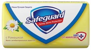 Антибактериальное кусковое мыло Safeguard с Ромашкой