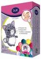 D&M Создаем игрушку из помпонов Котенок (67828)
