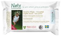 Влажные салфетки Naty Sensitive без отдушки