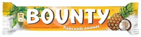 Батончик Bounty райский ананас, 52 г
