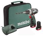 Аккумуляторная дрель-шуруповерт Metabo PowerMaxx BS 2014 2.0Ач х2 сумка 34 Н·м