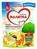 Каша Малютка (Nutricia) молочная мультизлаковая яблоко-груша-слива (с 6 месяцев) 220 г