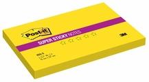 Post-it Блок Super Sticky, 76х127 мм, желтый, 90 штук (655-S)