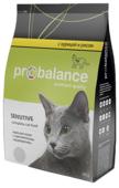 Корм для кошек ProBalance Sensitive с Курицей и рисом