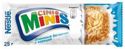 Злаковый батончик Cini Minis из квадратиков с корицей, 25 г